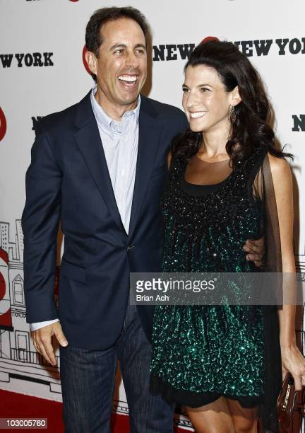 Actor Jerry Seinfeld and author Jessica Seinfeld attend the grand opening of Target East Harlem on July 20 2010 in New York City