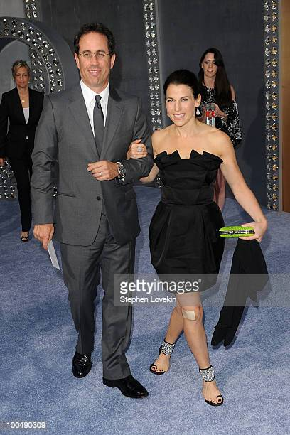 Actor Jerry Seinfeld and Jessica Seinfeld attend the premiere of Sex and the City 2 at Radio City Music Hall on May 24 2010 in New York City