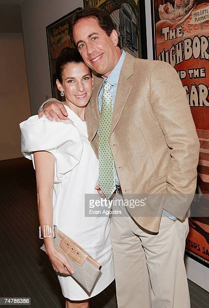 Actor Jerry Seinfeld and wife Jessica attend a special screening of Bee Movie at the Museum of Modern Art June 19 2007 in New York City