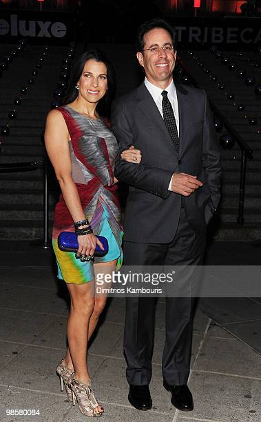 Actor Jerry Seinfeld and wife Jessica Seinfeld attends the Vanity Fair Party during the 9th Annual Tribeca Film Festival at the New York State...