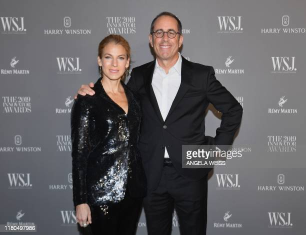 US actor Jerry Seinfeld and wife US author Jessica Seinfeld attend the WSJ Magazine 2019 Innovator Awards at MOMA on November 6 2019 in New York City