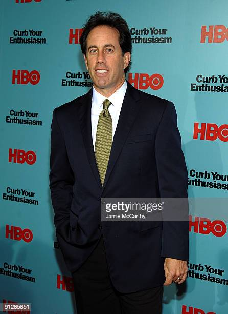 Actor Jerry Seinfeld attends the Curb Your Enthusiasm Season 7 New York screening at the Time Warner Screening Room on September 30 2009 in New York...
