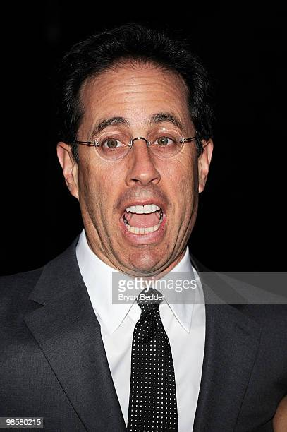 Actor Jerry Seinfeld attends the Vanity Fair Party during the 9th Annual Tribeca Film Festival at the New York State Supreme Court on April 20 2010...