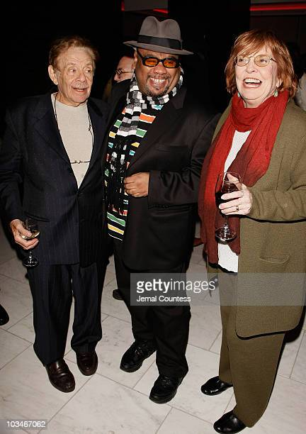 Actor Jerry Stiller Actor/Playwright Stew and Actress Anne Meara attend the Passing Strange Broadway Opening Night After Party at Escape on February...