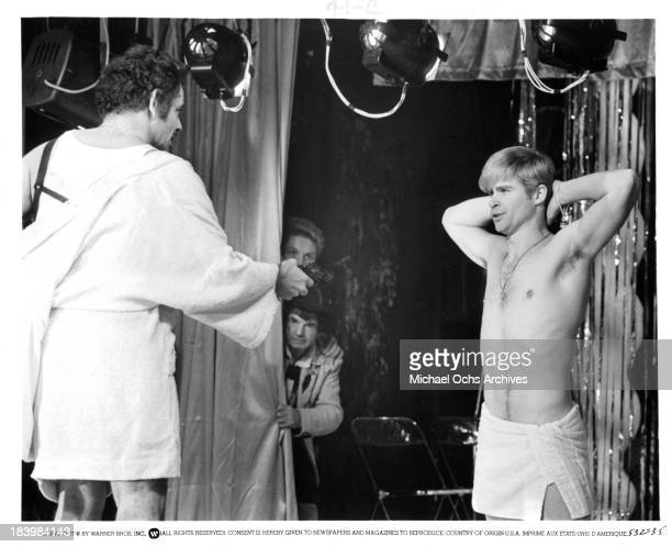 Actor Jerry Stiller and actor Treat Williams on set of the Warner Bros movieThe Ritz in 1976