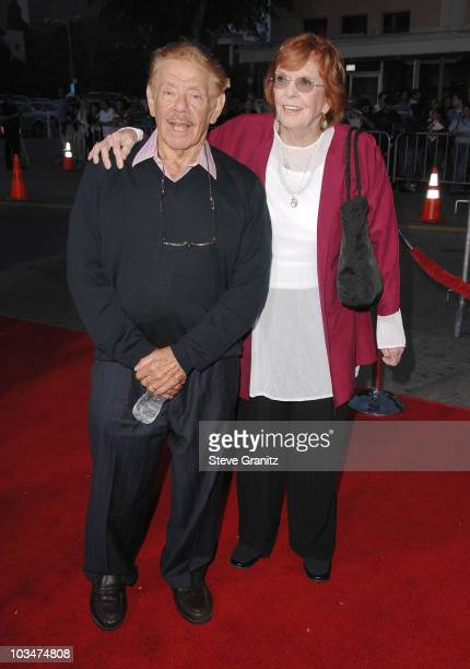Actor Jerry Stiller and Actress Anne Meara arrives at The Heartbreak Kid premiere at the Mann Village Theatre on September 27 2007 in Westwood...