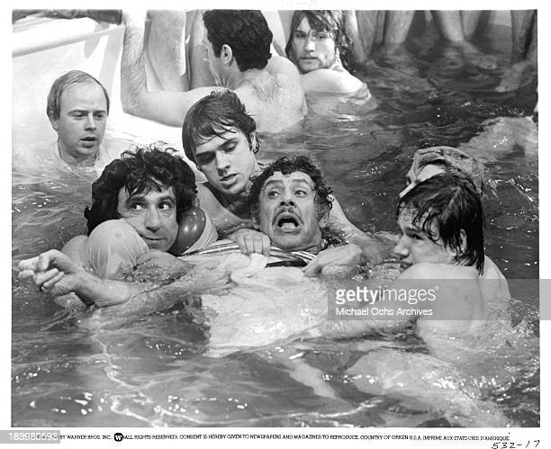 Actor Jerry Stiller with actors F Murray Abraham John Everson Treat Williams and Christopher J Brown on set of the Warner Bros movieThe Ritz in 1976