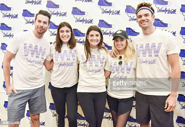 Actor Jerry Trainor Ali Landes actress Megan Park and singersongwriter Tyler Hilton pose for portrait at the 7th Annual Wendy Walk Los Angeles on...