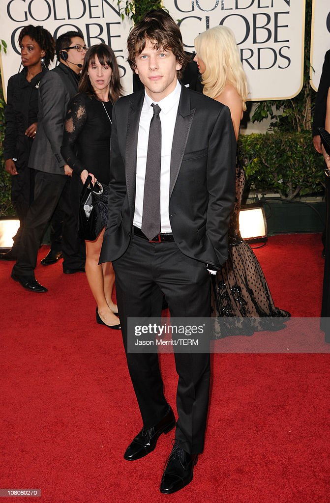Actor Jesse Eisenberg arrives at the 68th Annual Golden Globe Awards held at The Beverly Hilton hotel on January 16, 2011 in Beverly Hills, California.