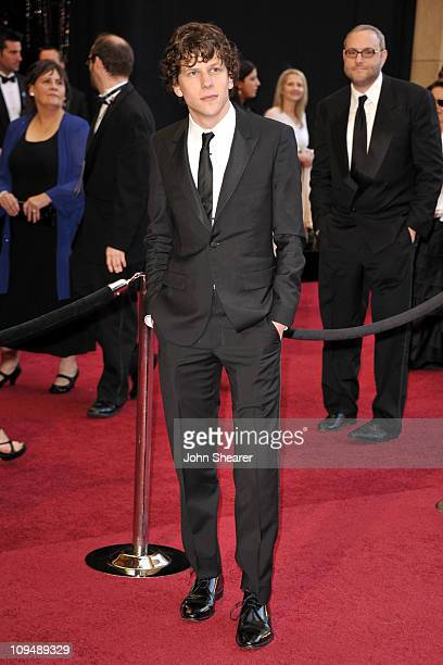 Actor Jesse Eisenberg arrives at the 83rd Annual Academy Awards held at the Kodak Theatre on February 27 2011 in Hollywood California
