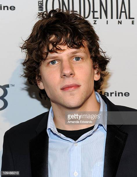Actor Jesse Eisenberg arrives at the Los Angeles Confidential Magazine celebrates Jesse Eisenberg at Awards Celebration presented by Bing party at...