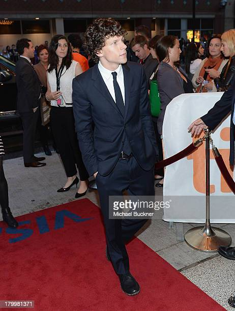 Actor Jesse Eisenberg arrives to the premiere of 'The Double' during the 2013 Toronto International Film Festival at Winter Garden Theatre on...