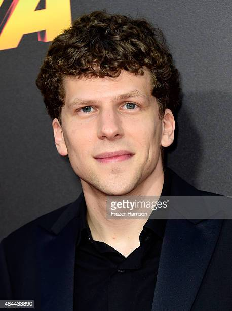 Actor Jesse Eisenberg attends PalmStar Media And Lionsgate's 'American Ultra' premiere at the Ace Theater Downtown LA on August 18 2015 in Los...
