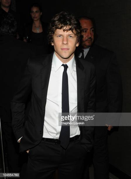 """Actor Jesse Eisenberg attends the after party following Columbia Pictures' and The Cinema Society's screening of """"The Social Network"""" at the..."""