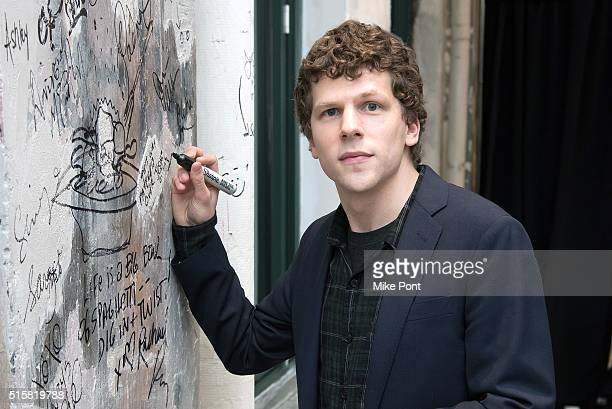 Actor Jesse Eisenberg attends the AOL Build Speaker Series to discuss the movie 'Batman v Superman Dawn of Justice' at AOL Studios In New York on...