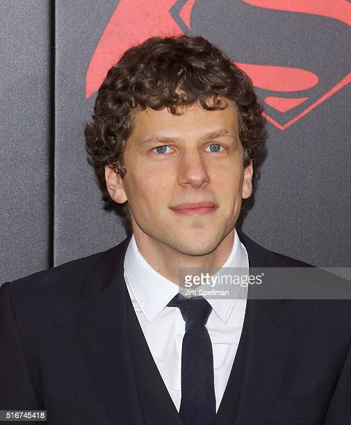 Actor Jesse Eisenberg attends the 'Batman V Superman Dawn Of Justice' New York premiere at Radio City Music Hall on March 20 2016 in New York City