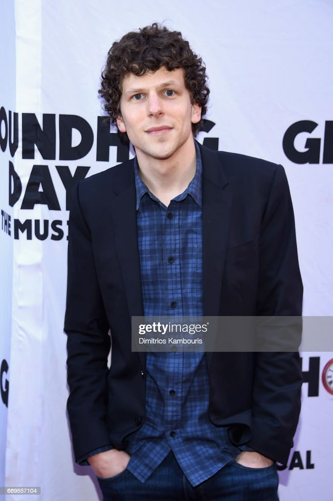 Actor Jesse Eisenberg attends the 'Groundhog Day' Broadway Opening Night at August Wilson Theatre on April 17, 2017 in New York City.