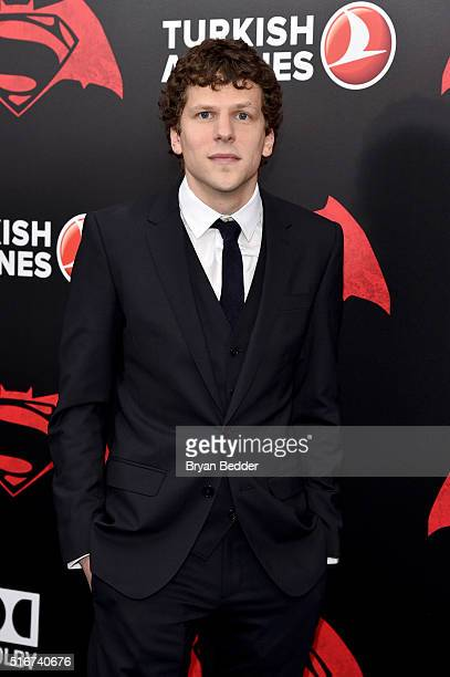 Actor Jesse Eisenberg attends the launch of Bai Superteas at the 'Batman v Superman Dawn of Justice' premiere on March 20 2016 in New York City