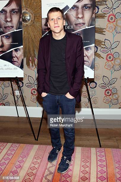 Actor Jesse Eisenberg attends the 'Louder Than Bombs' New York Premiere at Crosby Street Hotel on March 30 2016 in New York City