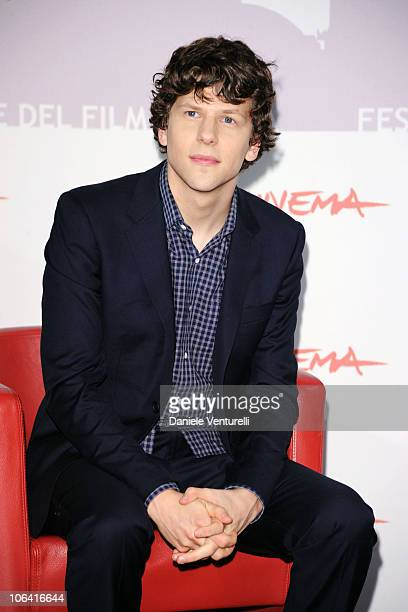 Actor Jesse Eisenberg attends The Social Network Photocall during the 5th International Rome Film Festival at Auditorium Parco Della Musica on...