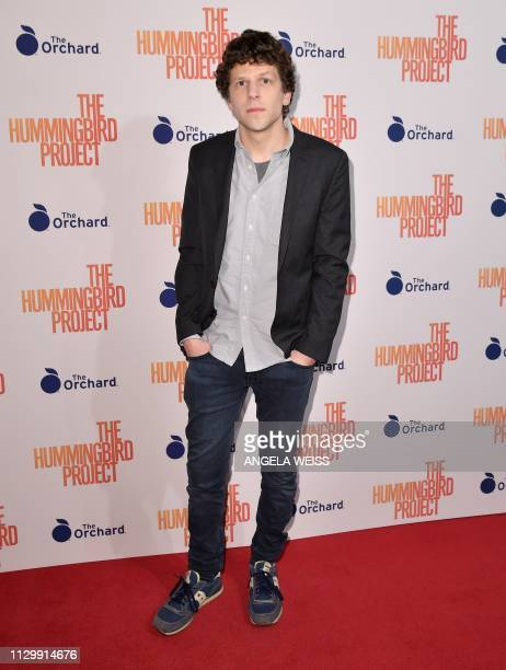 Actor Jesse Eisenberg attends the 'The Hummingbird Project' New York screening at Metrograph on March 11 2019 in New York City