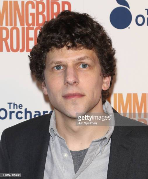 Actor Jesse Eisenberg attends the The Hummingbird Project New York screening at Metrograph on March 11 2019 in New York City