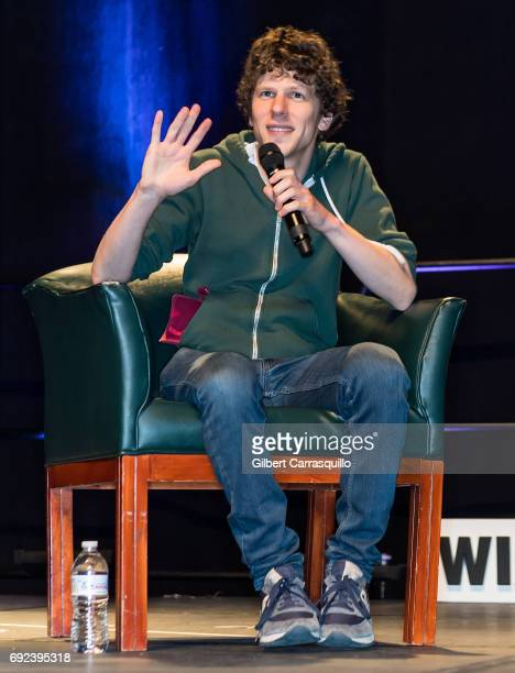 Actor Jesse Eisenberg attends Wizard World Comic Con Philadelphia 2017 Day 4 at Pennsylvania Convention Center on June 4 2017 in Philadelphia...