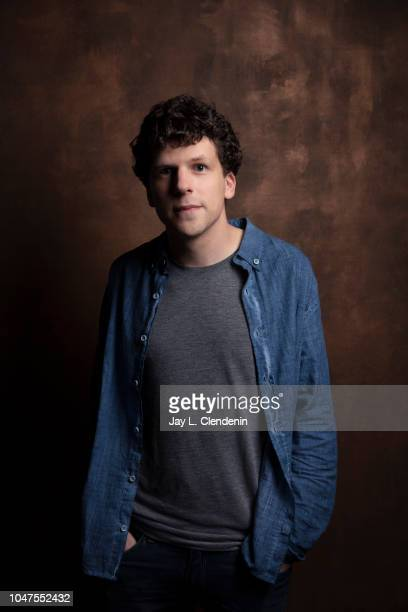 Actor Jesse Eisenberg from 'The Hummingbird Project' is photographed for Los Angeles Times on September 9 2018 in Toronto Ontario PUBLISHED IMAGE...