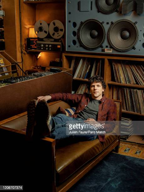 Actor Jesse Eisenberg is photographed for Paris Match on February 21 2020 in Paris France
