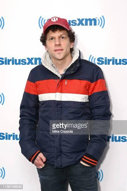 Actor Jesse Eisenberg visits SiriusXM at SiriusXM Studios on March 11 2019 in New York City