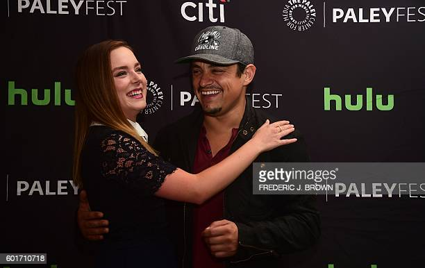 Actor Jesse Garcia and actress Madison Davenport staring in 'From Dusk Till Dawn' poses on arrival for the Paley Center For Media 's 10th annual...