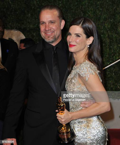 Actor Jesse James and Actress Sandra Bullock arrive at the 2010 Vanity Fair Oscar Party hosted by Graydon Carter held at Sunset Tower on March 7 2010...