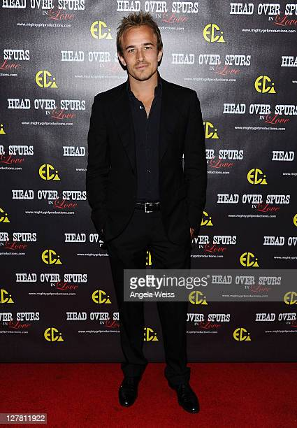 Actor Jesse Johnson arrives at the world premiere of 'Head Over Spurs In Love' at Majestic Crest Theatre on March 24, 2011 in Los Angeles, California.