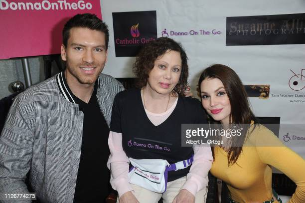 Actor Jesse Kove actress/dancer Donna Russo and actress Ainsley Ross at the Season 3 promotion of 'Donna On The Go' and the opening of the official...