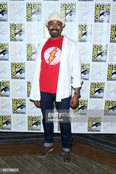 Actor Jesse L Martin attends 'The Flash' press line during ComicCon International 2014 at Hilton Bayfront on July 26 2014 in San Diego California