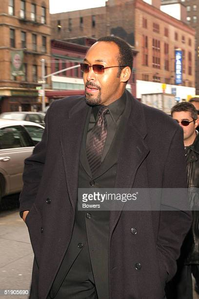Actor Jesse L Martin attends the funeral for Jerry Orbach at Riverside Chapel December 31 2004 in New York City