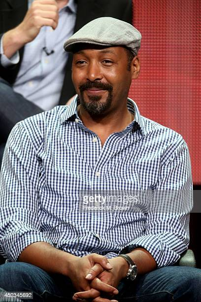 Actor Jesse L Martin speaks onstage at the 'The Flash' panel during the CW Network portion of the 2014 Summer Television Critics Association at The...