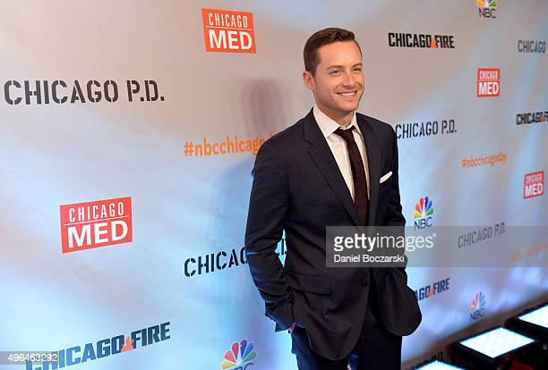 Actor Jesse Lee Soffer attends a premiere party for NBC's 'Chicago Fire' 'Chicago PD' and 'Chicago Med' at STK Chicago on November 9 2015 in Chicago...