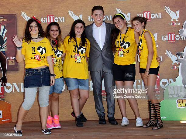 Actor Jesse McCartney and the children of the jury attend a photocall during Giffoni Experience 2010 on July 25 2010 in Giffoni Valle Piana Italy
