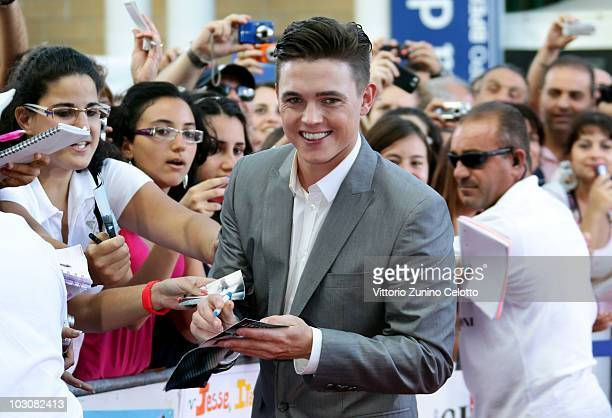 Actor Jesse McCartney signs autographs during Giffoni Experience 2010 on July 25, 2010 in Giffoni Valle Piana, Italy.