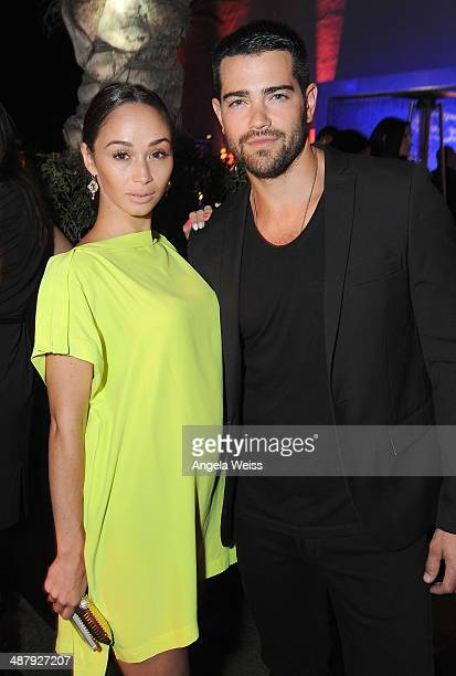 Actor Jesse Metcalf and Cara Santana attend the Jaguar and BritWeek Event A Villainous Affair at The London West Hollywood on May 2 2014 in Los...
