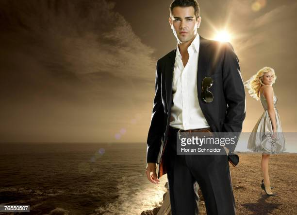 Actor Jesse Metcalfe and actress Brittany Snow are photographed for Hollywood Life Magazine in 2006 in Los Angeles, California. PUBLISHED IMAGE.