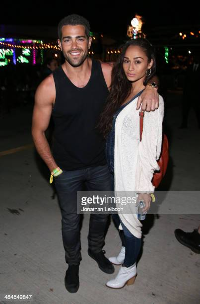 Actor Jesse Metcalfe and actress Cara Santana attend NYLON and Olay Fresh Effects Present Neon Carnival with GUESS on April 12 2014 in Thermal...
