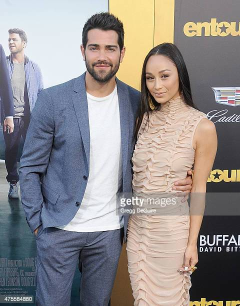 Actor Jesse Metcalfe and Cara Santana arrive at the Los Angeles premiere of 'Entourage' at Regency Village Theatre on June 1 2015 in Westwood...
