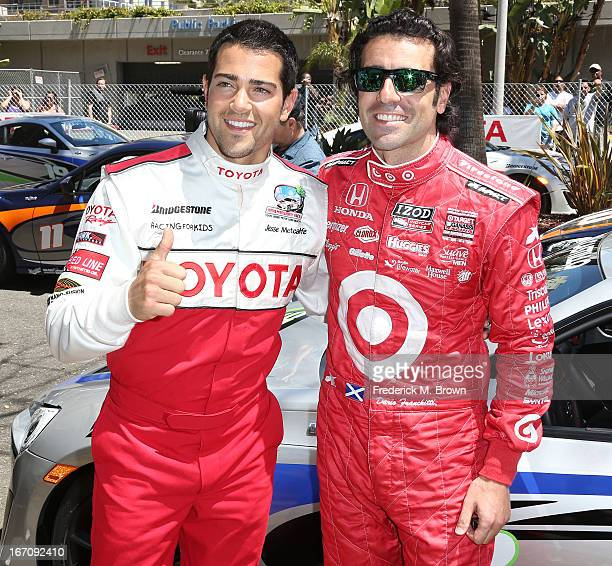 Actor Jesse Metcalfe and Indy Car driver Dario Franchitti attend the 37th Annual Toyota Pro/Celebrity Race qualifying on April 19 2013 in Long Beach...