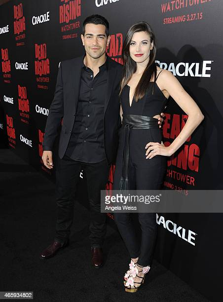Actor Jesse Metcalfe and Meghan Ory arrive at the premiere of Crackle's Dead Rising Watchtower at Sony Pictures Studio on March 11 2015 in Culver...