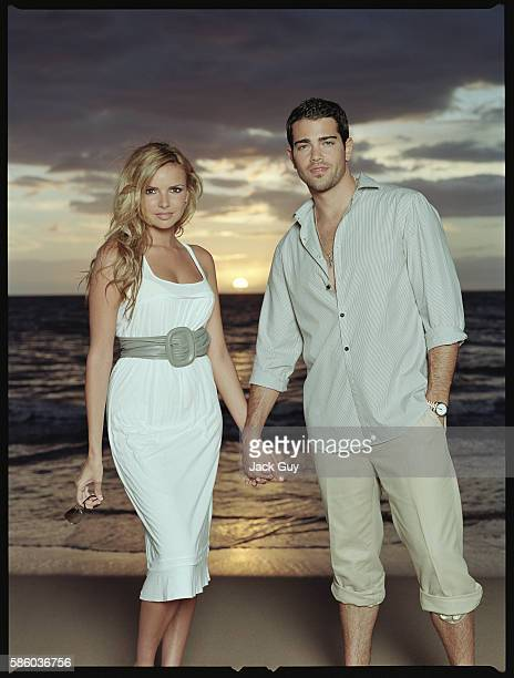 Actor Jesse Metcalfe and singer Nadine Coyle are photographed OK Magazine UK in 2007 in Los Angeles California PUBLISHED IMAGE