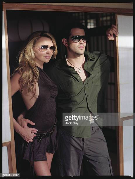 Actor Jesse Metcalfe and singer Nadine Coyle are photographed OK Magazine UK in 2007 in Los Angeles California