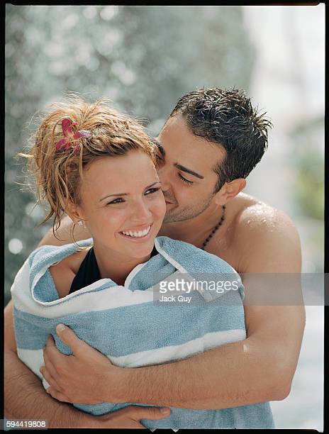 Actor Jesse Metcalfe and singer Nadine Coyle are photographed OK Magazine UK in 2007 in Los Angeles, California.