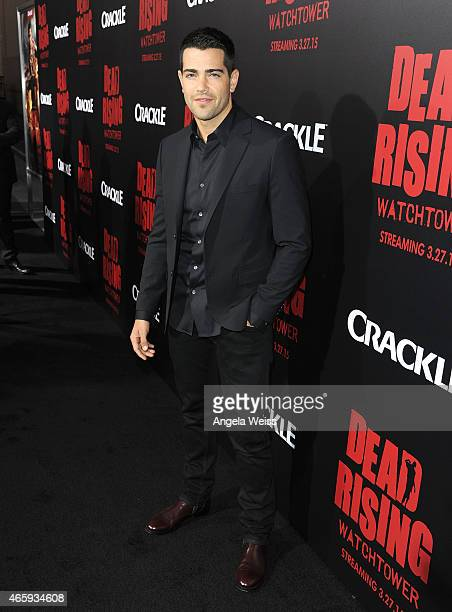 Actor Jesse Metcalfe arrives at the premiere of Crackle's Dead Rising Watchtower at Sony Pictures Studio on March 11 2015 in Culver City California
